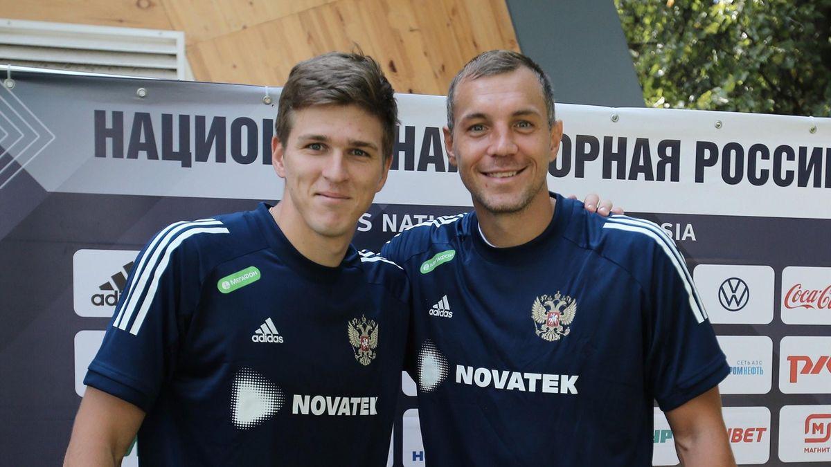 Дзюба и Соболев могут сыграть в паре нападающих сборной России - фото