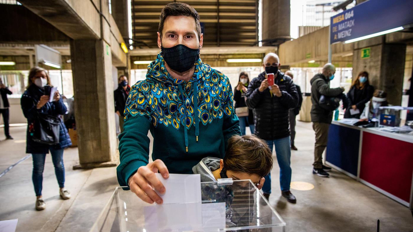 Месси вместе с сыном пришел на выборы нового президента «Барселоны» - фото