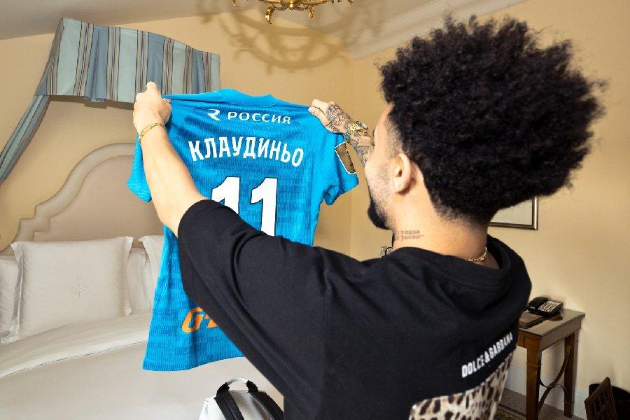 Клаудиньо не знал, что будет играть под одним номером с лучшим бомбардиром «Зенита»  - фото