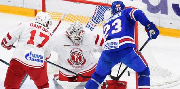 СКА разгромил «Витязь» в первом матче после возвращения Брагина - фото