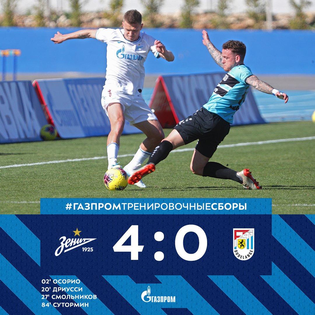 «Зенит» обыграл «Дюделанж», Малком не вышел на поле, судьба Кокорина решится  на днях - фото