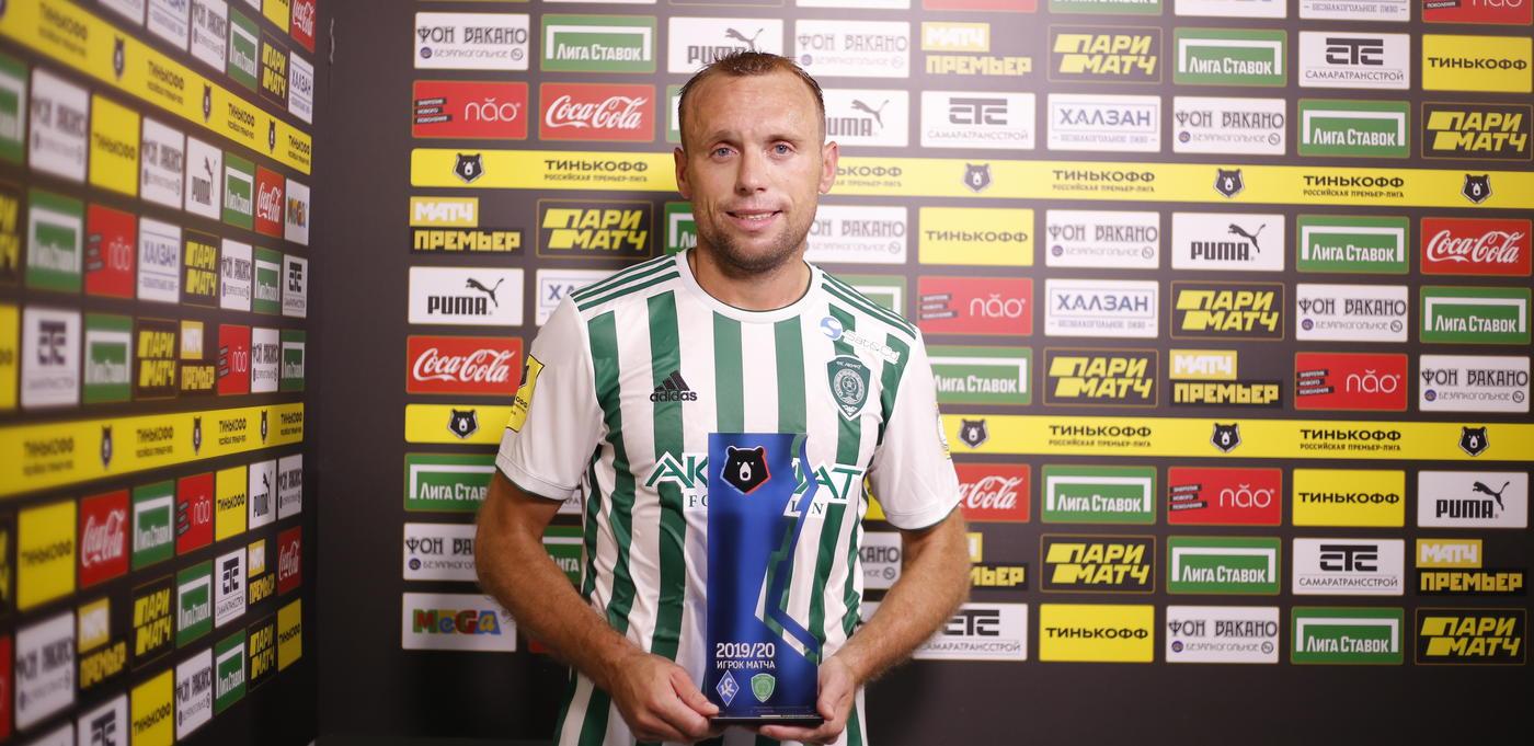Глушаков стал лучшим игроком «Ахмата» по пробегу в матче с «Крыльями Советов» - фото