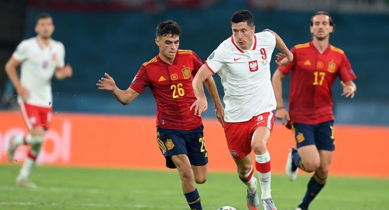 Гол Левандовского помог сборной Польши уйти от поражения в матче с Испанией на Евро - фото