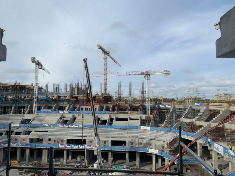 На «СКА Арене» залили 115 тысяч кубометров бетона - фото