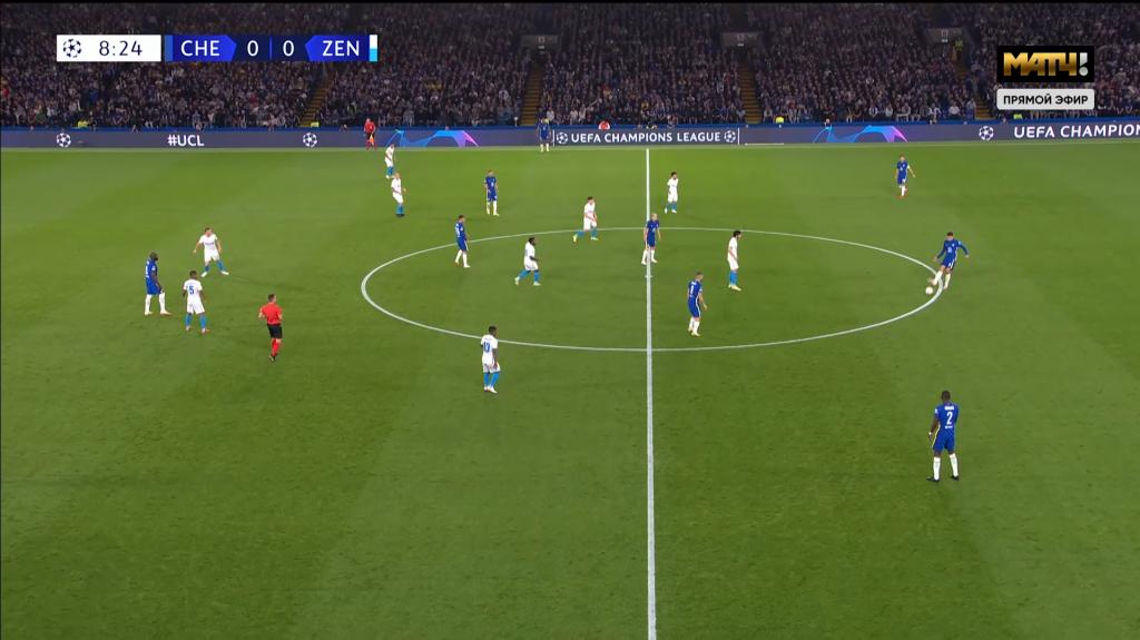 Зенит сыграл против Челси в 3-4-3