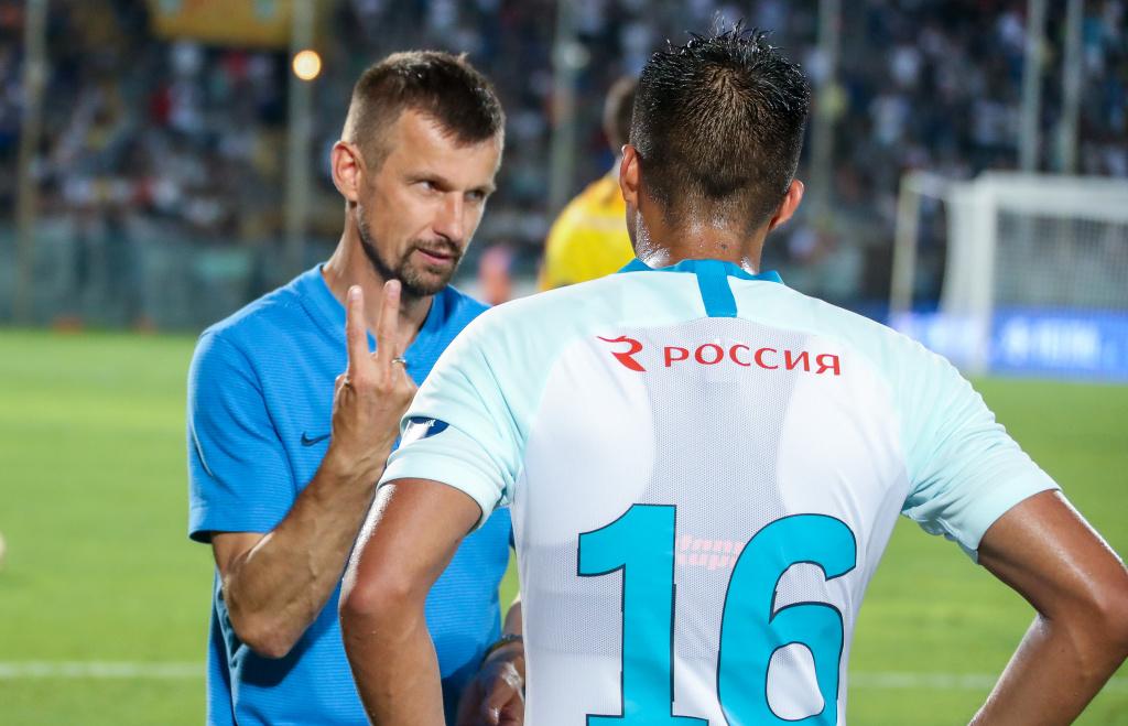 Сергей Семак и Кристиан Нобоа