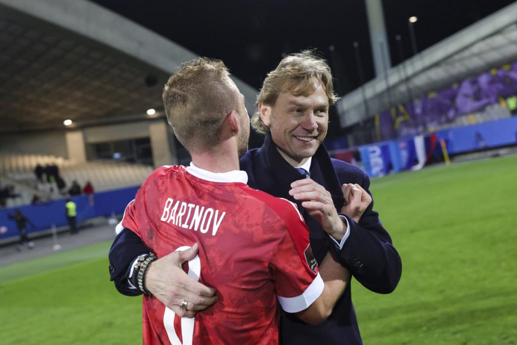 Дмитрий Баринов и Валерий Карпин