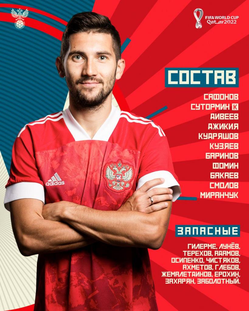 состав сборной России на матч со Словенией