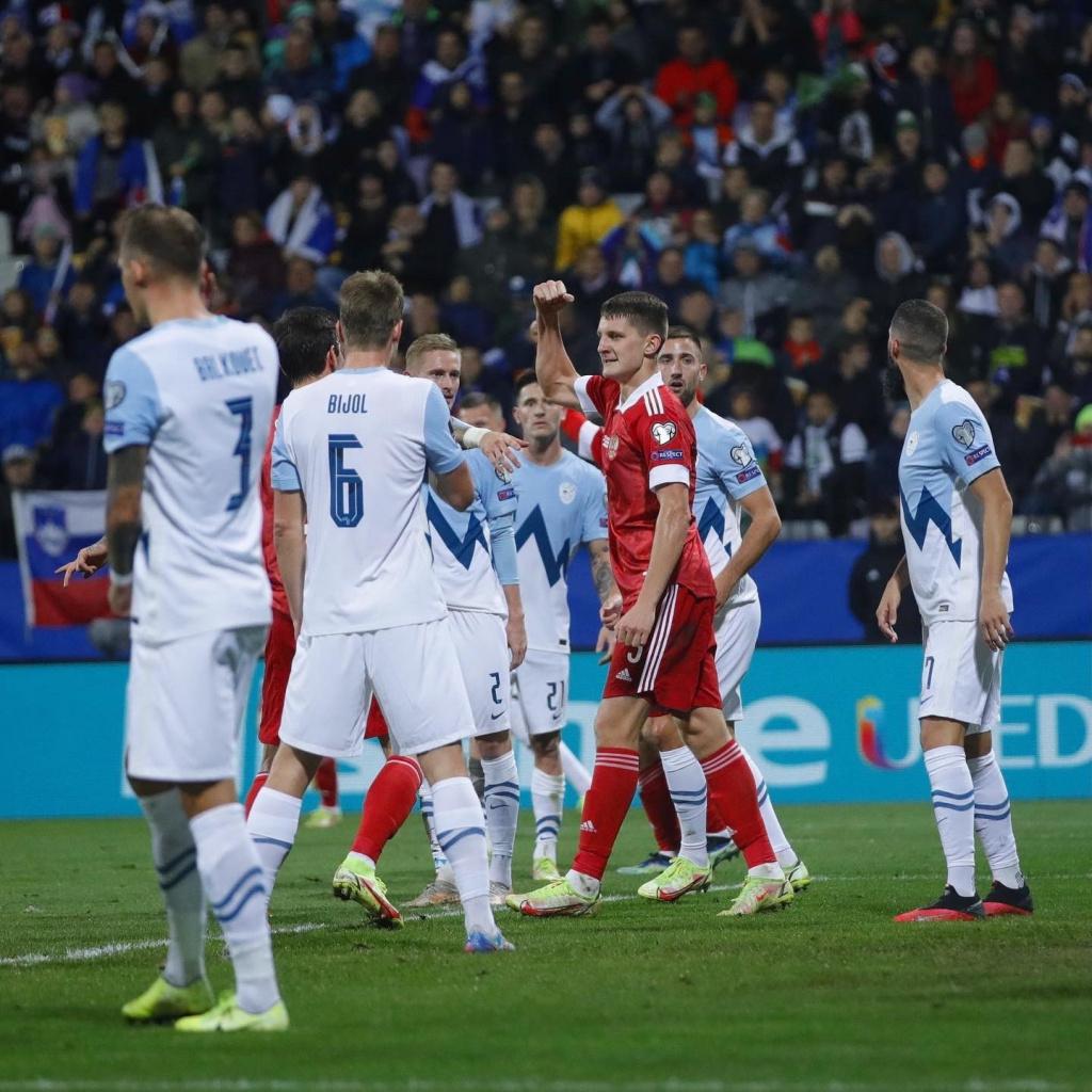 Игорь Дивеев в матче Словения – Россия – 1:2