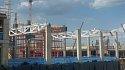 На площадке «СКА Арены» начали монтаж первых металлоконструкций - фото